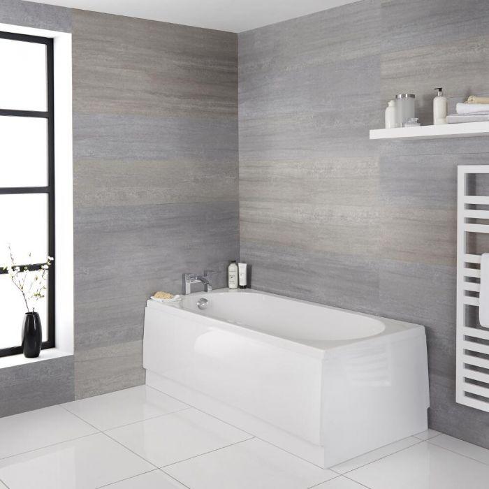 Einbau-Badewanne mit abgerundeten Enden (ohne Schürze) – wählbare Größe