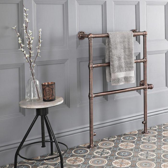 Badheizkörper, elektrisch, traditionell, 966mm x 673mm, geölte Bronze - Salina