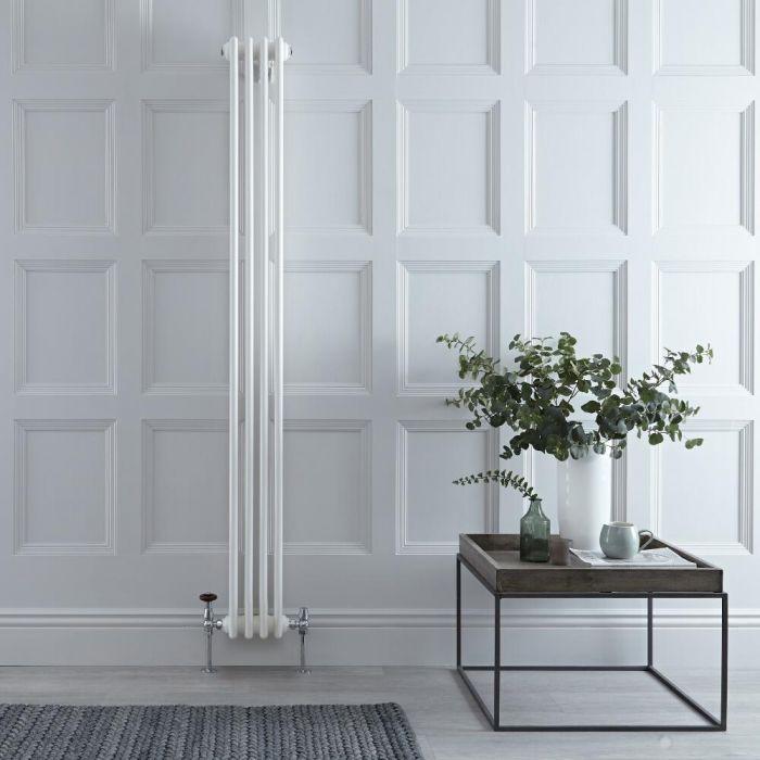Gliederheizkörper Vertikal 3 Säulen Nostalgie Weiß 1800mm x 200mm 779W - Regent