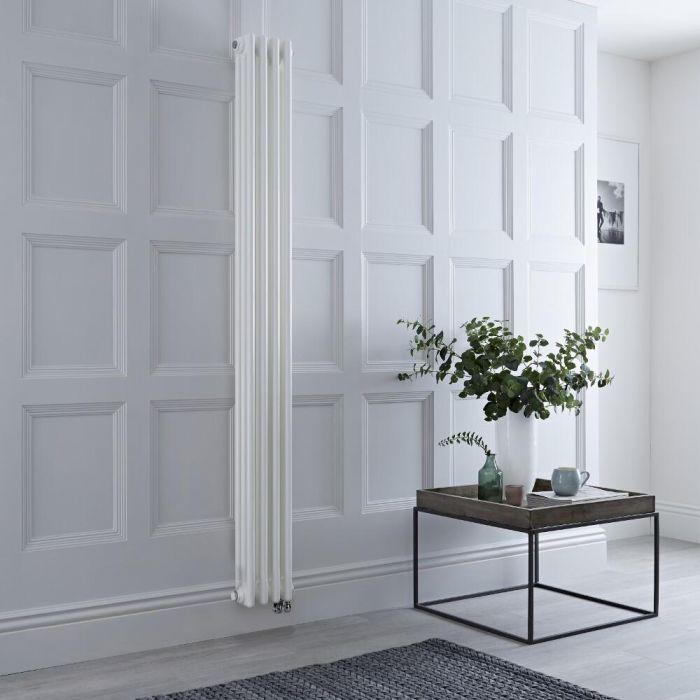 Gliederheizkörper Elektrisch 3-lagig Weiß 1800mm x 200mm, 800W, WLAN-Thermostat wählbar - Regent