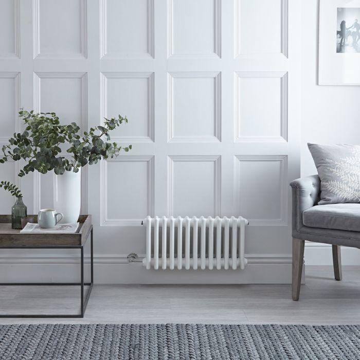 Gliederheizkörper, Elektrisch, Nostalgie, Weiß, Doppel-Säulen, 300mm x 605mm, Auswahl an WLAN-Thermostat - Regent