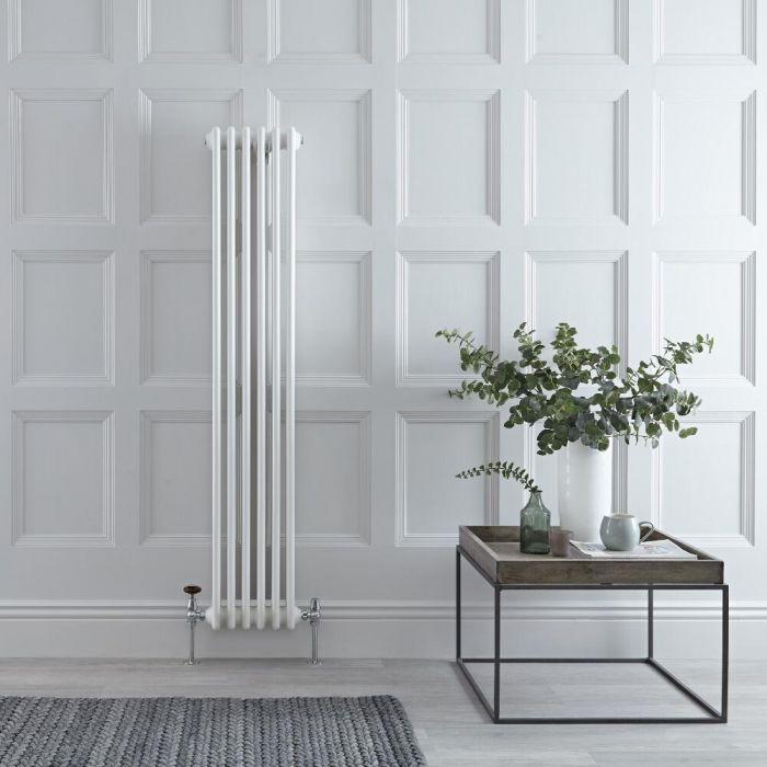 Gliederheizkörper Vertikal 2 Säulen Nostalgie Weiß 1500mm x 290mm 822W - Regent