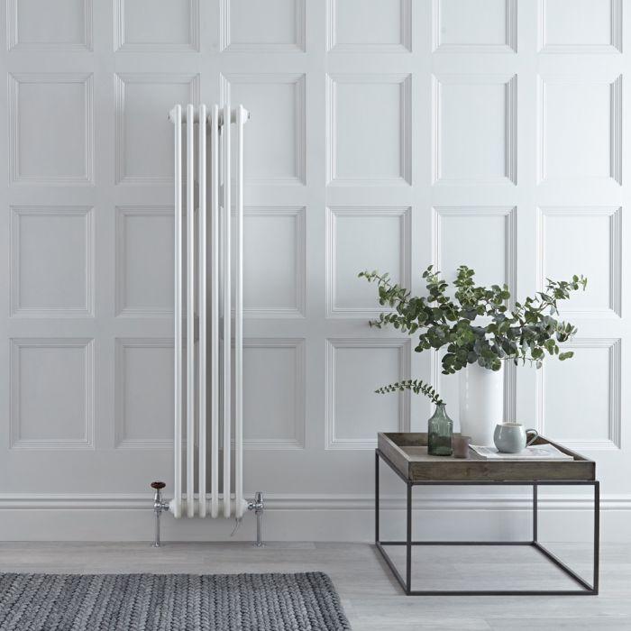 Gliederheizkörper Mischbetrieb 1500mm x 290mm Vertikal Weiß 822W/1000W Heizelement, Ventil & WLAN-Thermostat wählbar - Regent