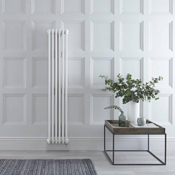 Gliederheizkörper Elektrisch 2-lagig Weiß 1500 x 290mm, 1000W, WLAN-Thermostat wählbar