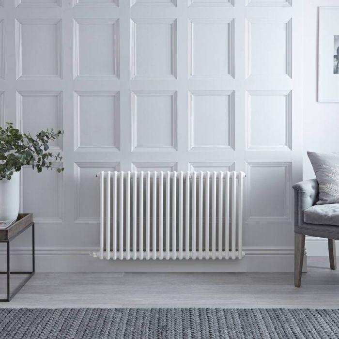 Gliederheizkörper, Elektrisch, Weiß, Doppel-Säulen, 600mm x 1010mm, Auswahl an WLAN-Thermostat - Regent