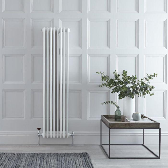 Gliederheizkörper Vertikal 3 Säulen Nostalgie Weiß 1500mm x 380mm 1387W - Regent