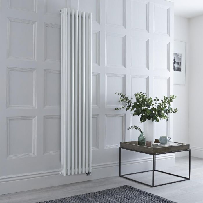 Säulenheizkörper, Elektrisch, 1500W, Weiß, 1800mm x 380mm, WLAN-Thermostat wählbar - Regent