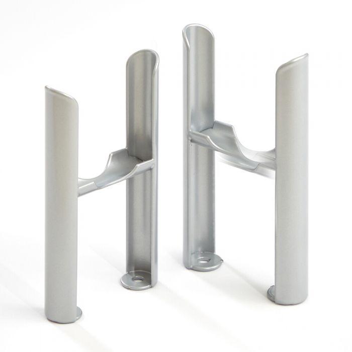 Füße für Regent 3-Säulen Heizkörper - Metallisches Silber