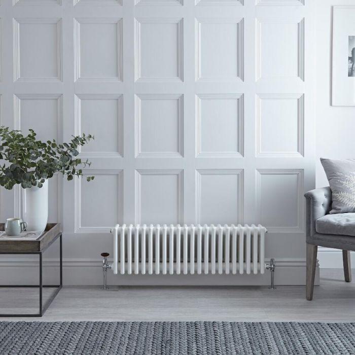 Gliederheizkörper Horizontal 4 Säulen Nostalgie Weiß 300mm x 1010mm 1060W - Regent