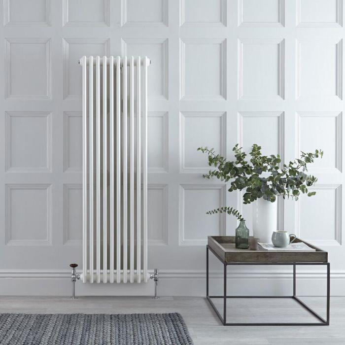Gliederheizkörper Vertikal 3 Säulen Nostalgie Weiß 1500mm x 470mm 1734W - Regent