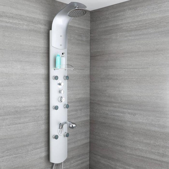 Thermostatisches Duschpaneel aus Aluminium, auch zur Eckmontage - Baya
