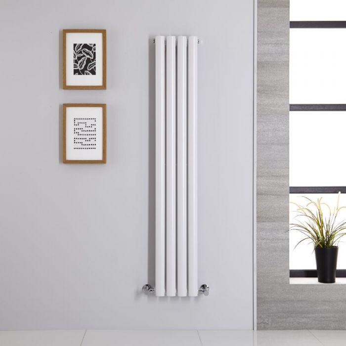 Design Heizkörper Vertikal Weiß 1400mm x 236mm 457W (einlagig) - Revive