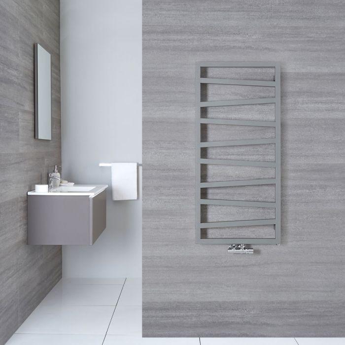 Handtuchheizkörper Vertikal Mittelanschluss Silber 1070mm x 500mm - Torun