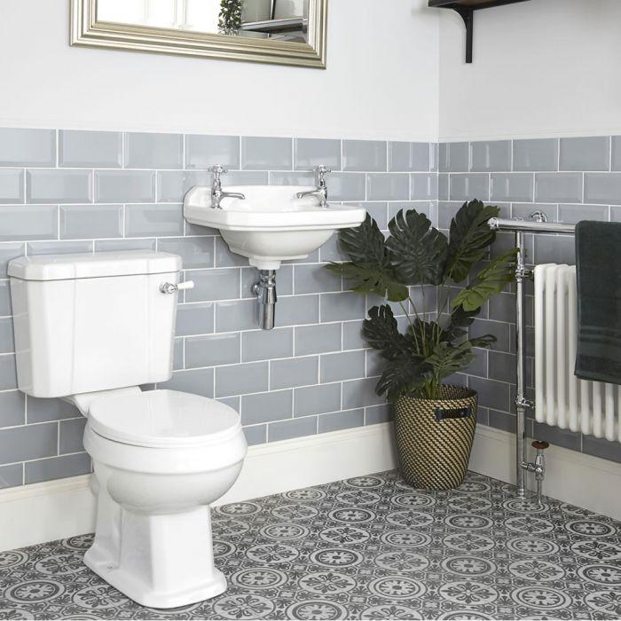 Traditionelles Set - Stand WC und Hängewaschbecken - Richmond