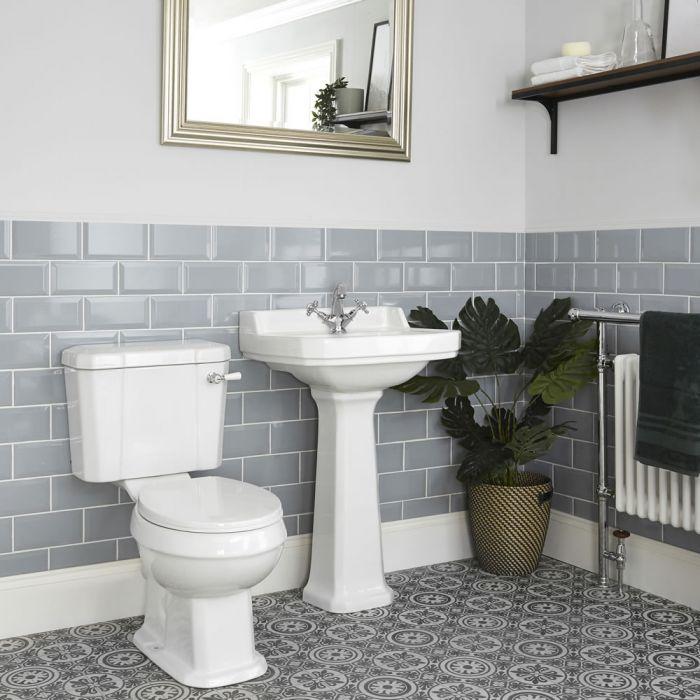 Nostalgie WC- und Säulenwaschbecken-Set - Richmond
