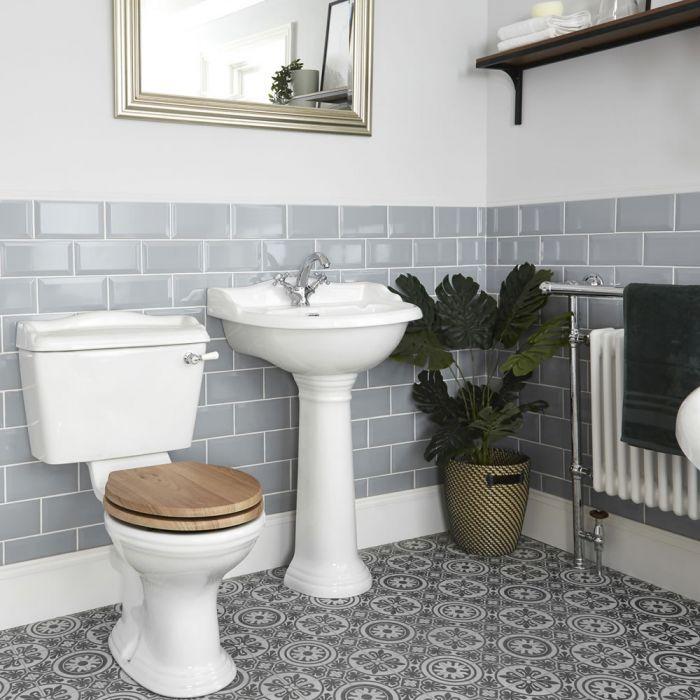 Nostalgie WC- und Säulenwaschbecken-Set - Ryther