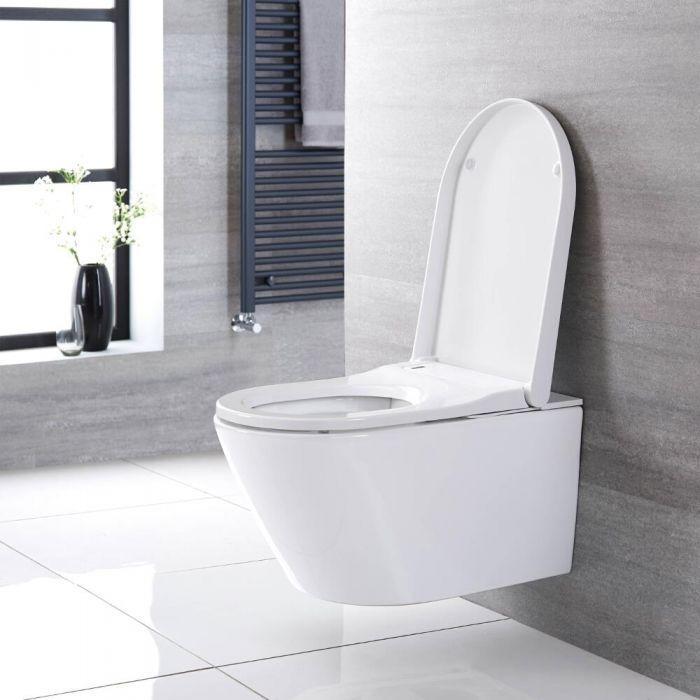 Hirayu - Japanisches Wand-Dusch-WC mit Wandrahmen inkl. Spülkasten - Wählbare Betätigungsplatte