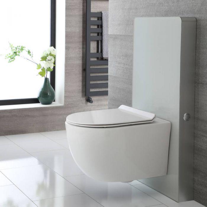 Otterton Hänge-WC Randlos mit Saru Sanitärmodul Weiß, inkl. Spülkasten
