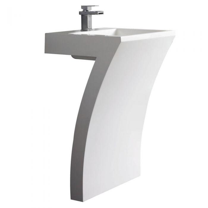 modernes Standwaschbecken 7-förmig