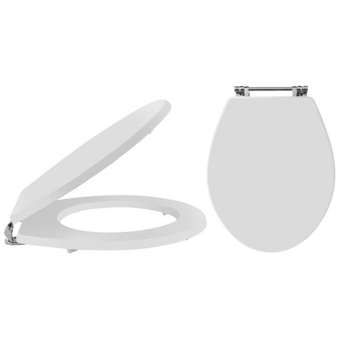 Toilettensitz Weiß Holz für Richmond Toiletten