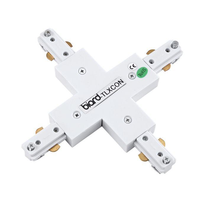Biard Stromschienenverbindungsstück X-Förmig Weiß