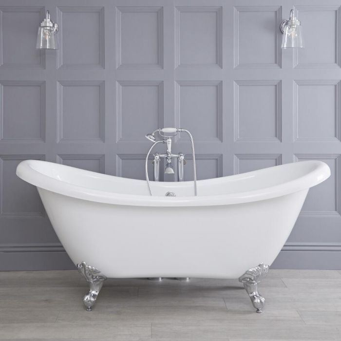 Freistehende Badewanne Verona mit auswählbaren Füßen 1750mm