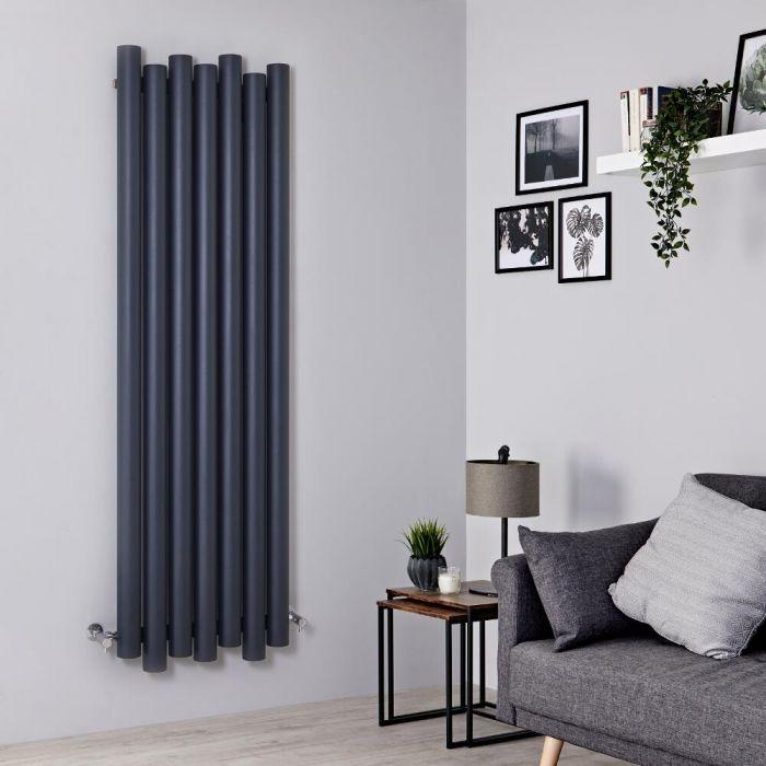 Designer Heizkörper Anthrazit Vertikal 1800mm x 550mm 1638W - Laeto