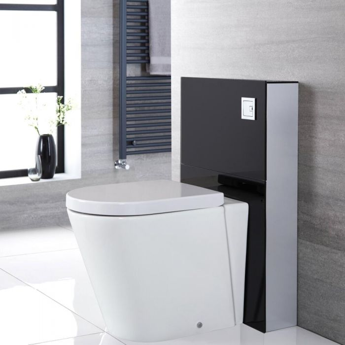 Alswear Stand-WC mit Saru Sanitärmodul H 822mm Schwarz