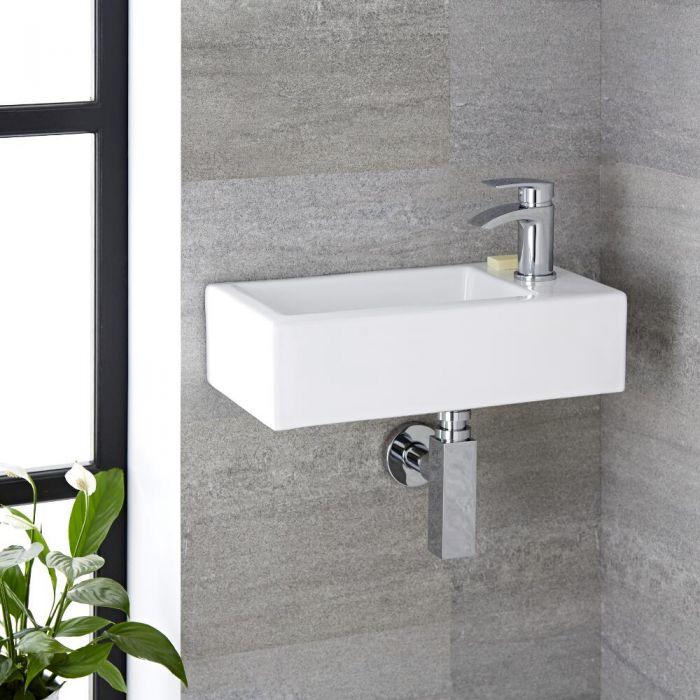 Handwaschbecken Rechteckig 450mm x 250mm - Sandford, Wand- und Hängemontage