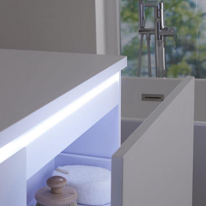 Newington - Doppel-Aufsatzwaschbecken mit Unterschrank 1200mm - Mattweiß