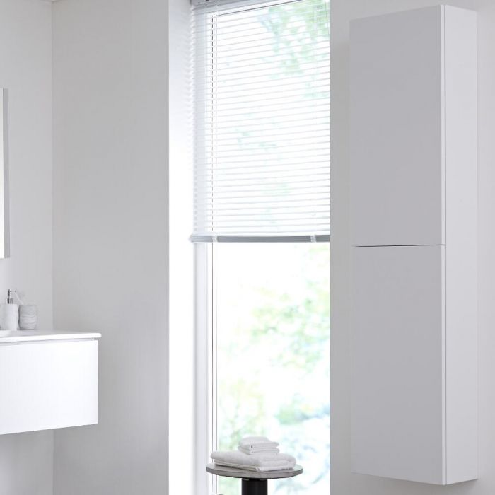 Hudson Reed Newington - 350x1500mm Geschlossener Badschrank - Mattweiß
