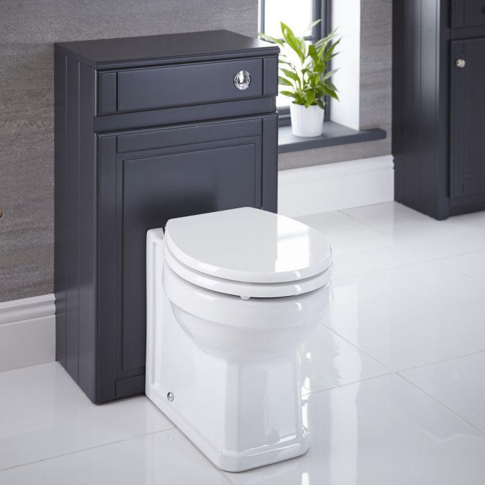 WC-Einheit mit Standtoilette, Spülkasten und Sitz 500mm Anthrazit - Charlton