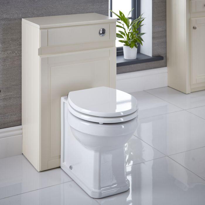 WC-Einheit mit Standtoilette, Spülkasten und Sitz 500mm Elfenbein - Charlton