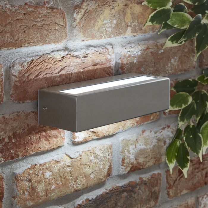 Biard Rechteckige Wandleuchte mit integrierter LED aus Edelstahl