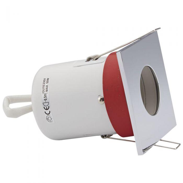 Biard Einbauspot mit verschiedenen Blenden, Brandschutzklassifiziert und IP20 getestet für GU10 Birnen - Eckig Ø72mm