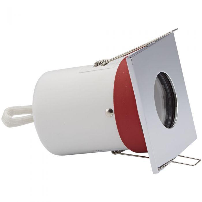 Biard Einbauspot mit verschiedenen Blenden, Brandschutzklassifiziert und IP20 getestet für GU10 Birnen - Eckig IP65 Gewertet Ø72mm