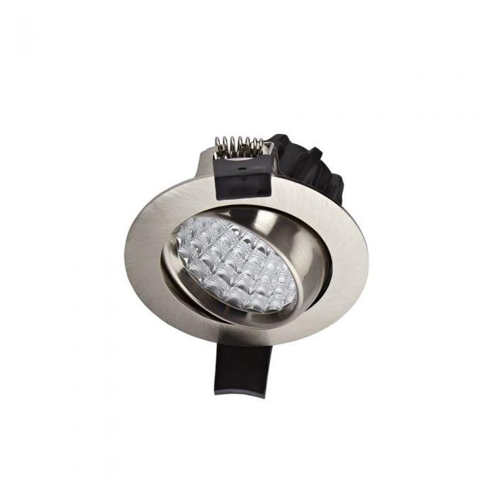 Biard 7W Versenkte LED Deckenleuchte mit Nickel-Fassung - Dimmbar - Kippbar