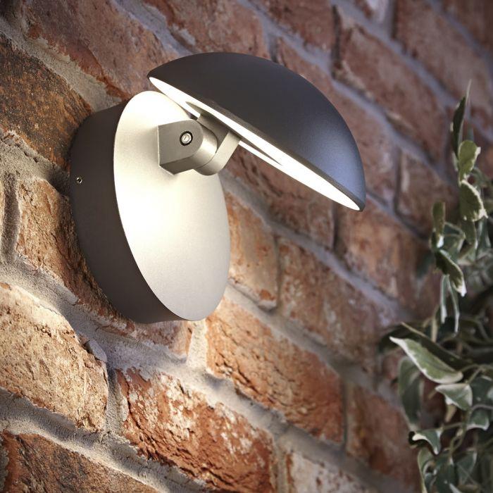 Biard Piombino justierbare LED Wandleuchte in anthrazit