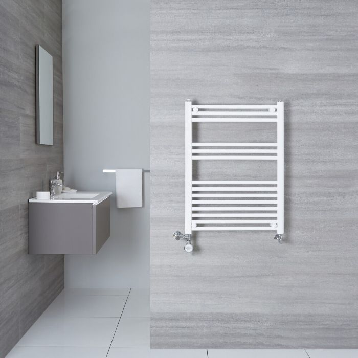 Handtuchheizkörper Mischbetrieb Weiß 800mm x 500mm 426W - Etna