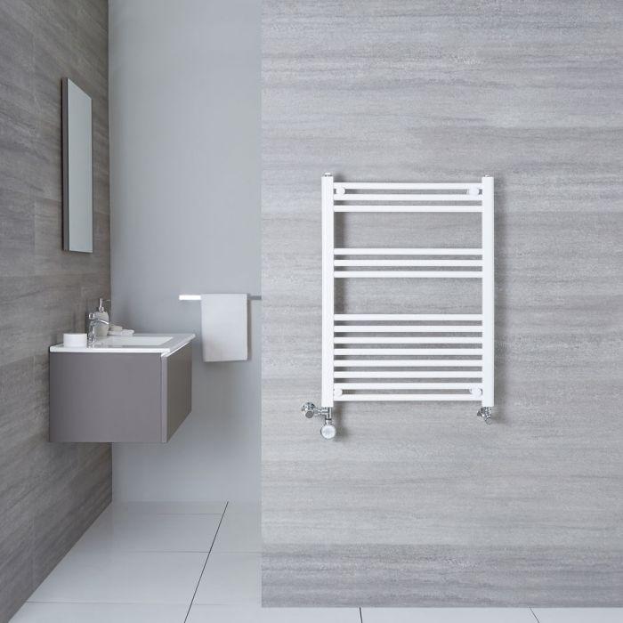 Handtuchheizkörper Mischbetrieb Weiß 800mm x 600mm 482W - Etna