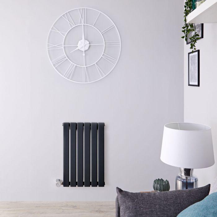 Design Heizkörper Elektrisch Horizontal Einlagig Anthrazit 635mm x 420mm inkl. ein 400W Heizelement - Delta