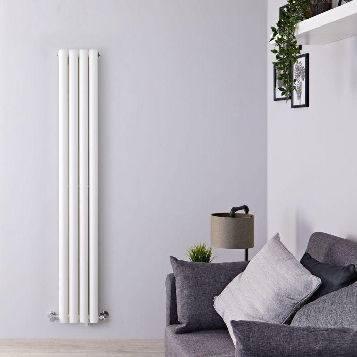Design Heizkörper Vertikal Doppellagig Weiß 1600mm x 236mm 819W - Revive Slim