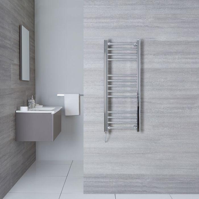 Elektrischer Badheizkörper Gebogen Chrom 1000mm x 400mm - Eco inkl. 200W Heizstab