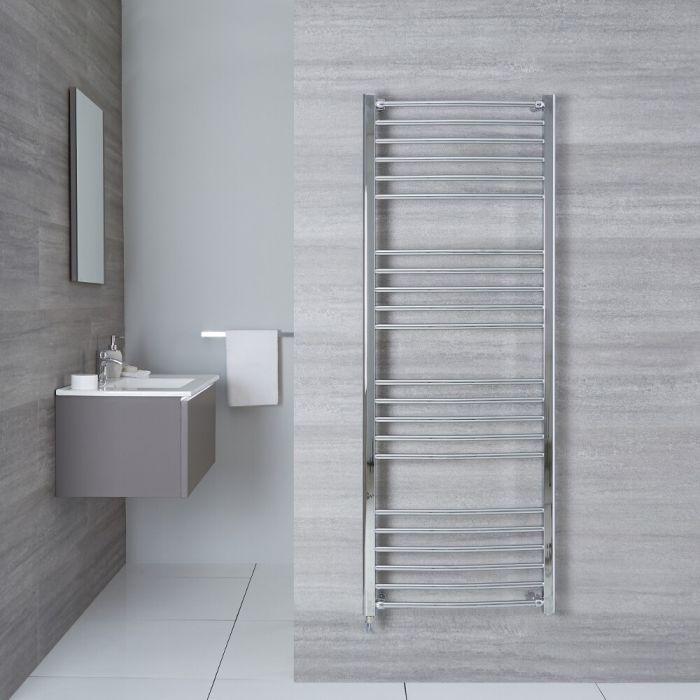 Elektrischer Badheizkörper Gebogen Chrom 1600mm x 500mm - Eco inkl. 400W Heizstab