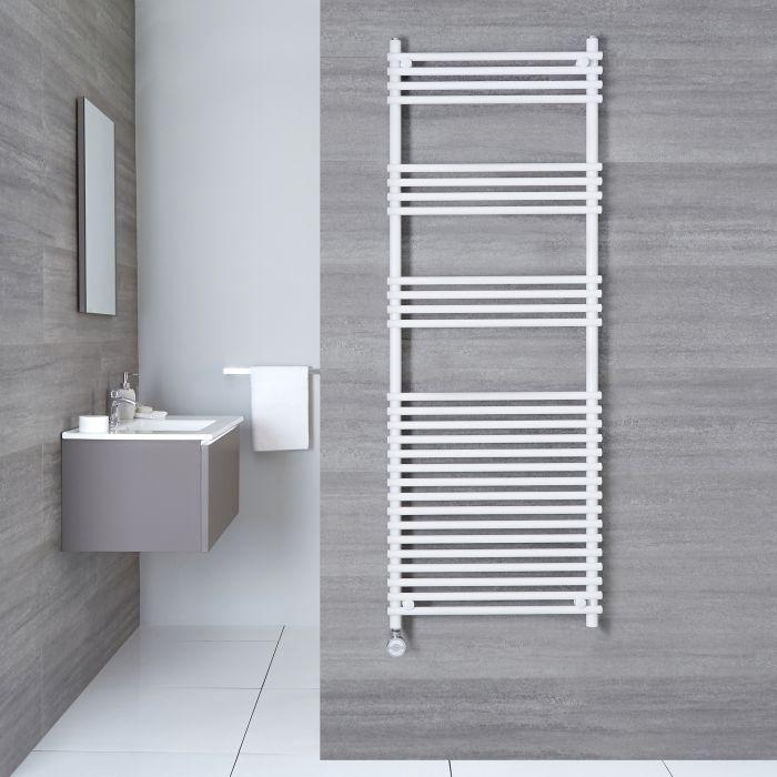Elektrischer Handtuchheizkörper Weiß 1650mm x 600mm inkl. ein 800W Heizelement - Etna