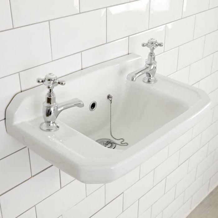 Handwaschbecken nostalgisch 2-Loch Wandmontage, Richmond