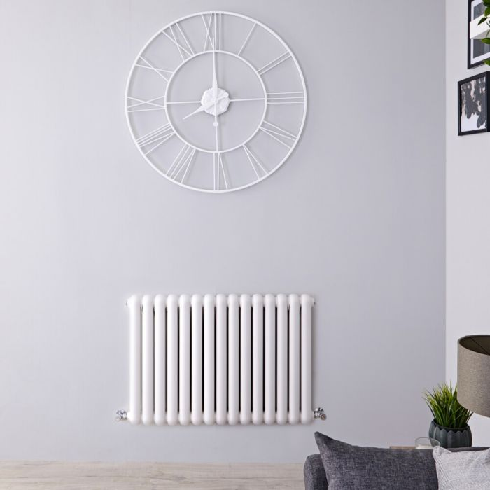 Gliederheizkörper Horizontal 2 Säulen Nostalgie Weiß 635mm x 863mm 1496W - Salvia