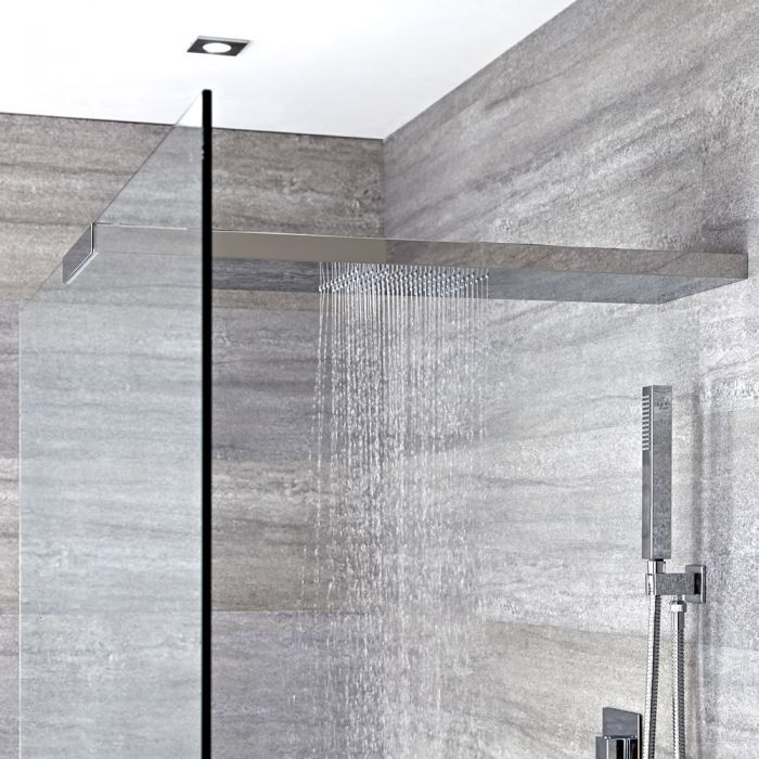 Duschkopf-Duschglaswandhalterung in Kombination 800mm x 250mm - Tratham