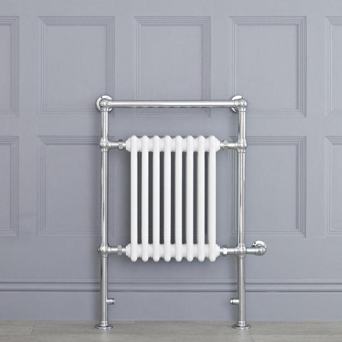 Avon elektrisch - Weißer traditioneller Handtuchheizkörper 930mm x 620mm x 155mm mit 600W Heizstab