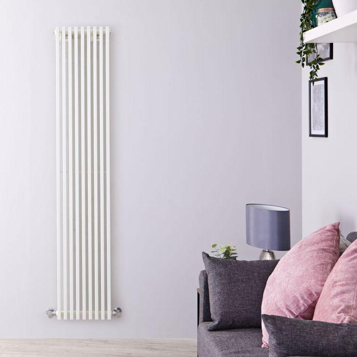 Design Heizkörper Vertikal Einlagig Weiß 1780mm x 342mm 1177W - Fin